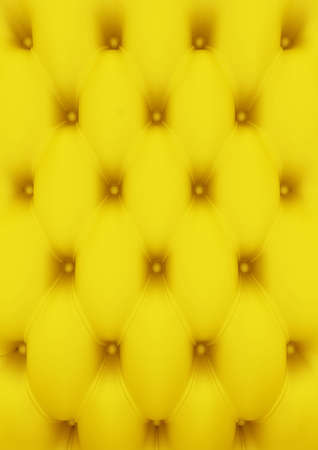 3D render of yellow buttoned leather pattern photo