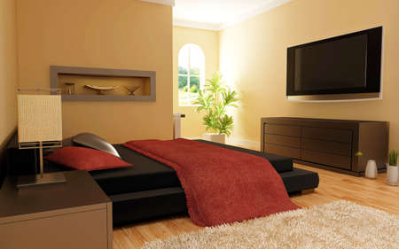 Inter of modern bedroom Stock Photo - 6490792