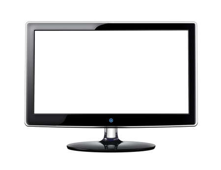 LCD screen with white display on white background