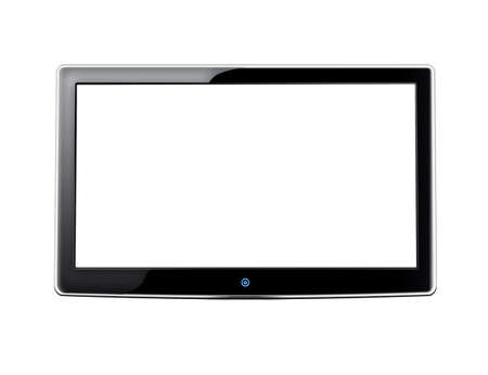 lcd tv: LCD screen TV with white background and place for your image Stock Photo