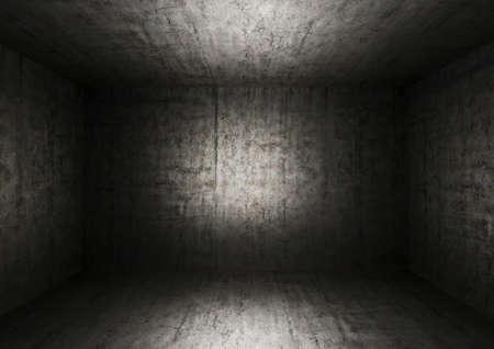 court room: Grunge bare concrete room