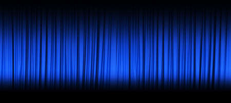 blue curtain: Blue theater curtain with spot lights