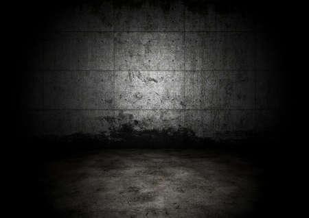 oscuro: Una pared de calabozo oscuro vac�o. Concepto de pared de prisi�n hist�rica