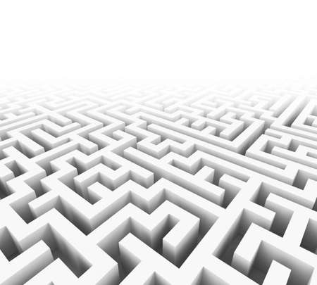 High quality illustration of a large maze or labyrinth illustration