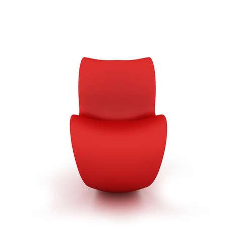 Silla roja moderna aislado en un fondo blanco