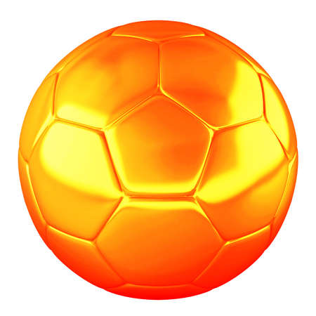 Orange shine soccer ball isolated on white background Stock Photo - 8713756