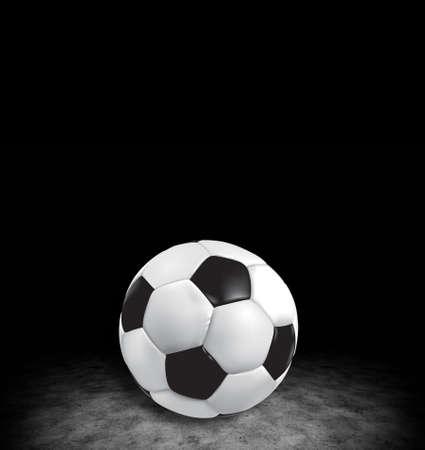 A soccer ball in dark room photo