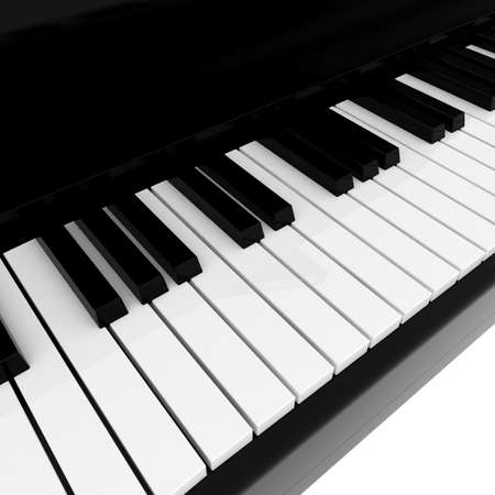 Real black grand piano isolated on white Stock Photo - 8492163
