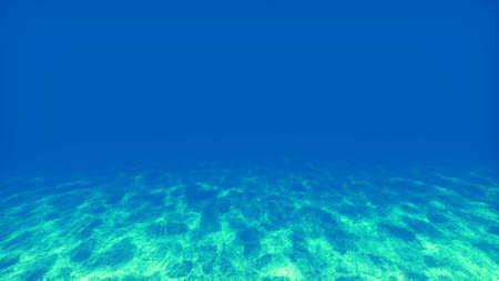 Underwater scene with sun rays photo