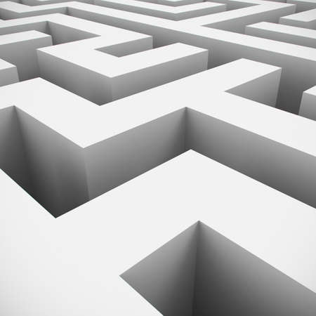 Abstract labyrinth on white background Stock Photo - 8713908