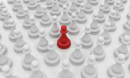winning team: Leadership illustration on white background