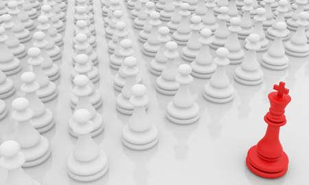 Leadership illustration on white background illustration