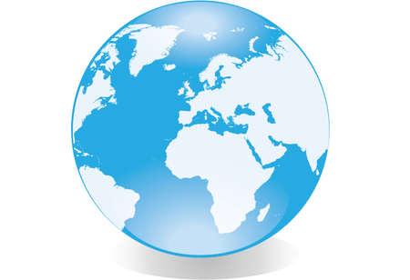 Glossy globe isolated on white background