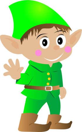 Christmas Elf Isolated on white background Illustration