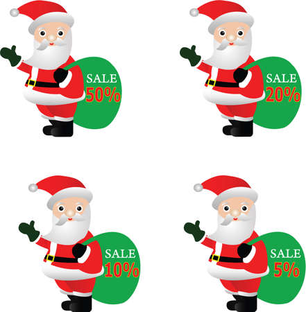 discounted: Santa with sale and discounted text