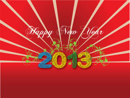 Simple Happy New Year greetings Illustration