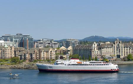 M.V. Coho Ferry departing Victoria, British Columbia, Canada