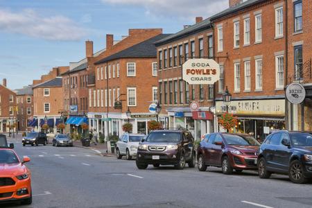 downtown Newburyport, MA, historic seaport in New England