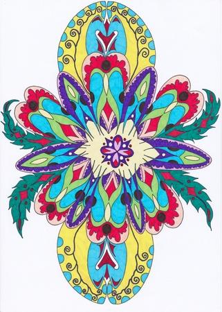 abstrait: motif floral abstrait