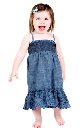 Very cute excited little girl Stock Photo - 7623121