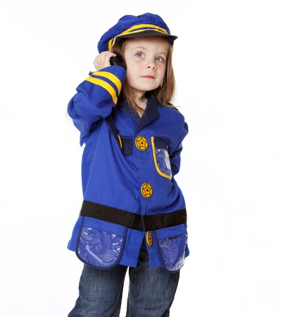 Little Girl in Police Costume photo