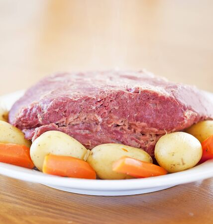 st  patty: A Traditional Corned Beef Dinner on a table
