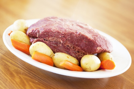 A Traditional Corned Beef Dinner on a table Stock Photo - 12107645