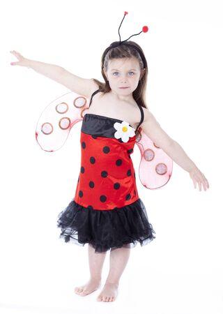 lady bug: Adorable little girl in ladybug costume