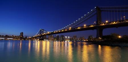 Manhattan bridge at sunset photo