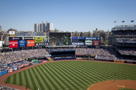 NEW YORK CITY USA- MAY 13 2012:. The Yankees are at home playing against the Seattle Mariners on Mothers Day, May 13, 2012 at Yankee Stadium, New York City.