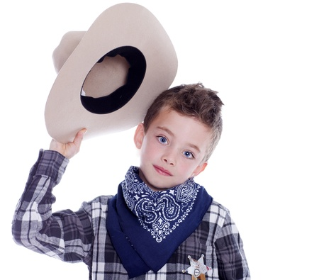 dressup: Young boy dressed as a cowboy