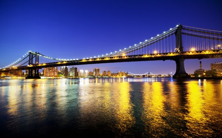 Manhattan Bridge at sunset Stock Photo - 15308102