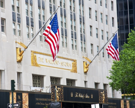 NEW YORK CITY - MAY 6: World Renowned Waldorf Astoria is considered one of the first grand hotels and a landmark since 1993 in New York City,May 6, 2012 in Manhattan, New York City.