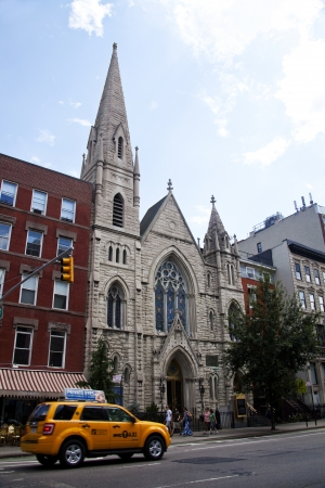 continuously: New York City, USA , August, 5, 2012 - Middle Collegiate Church located in the East Village of New York City on August 5, 2012. It is the oldest of all continuously active congregations in America organized in 1628.