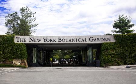 entranceway: New York City, USA , August, 5, 2012 - New York Botanical Garden