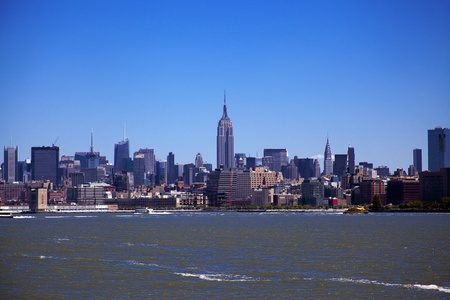 Downtown New York City Skyline on a beautiful day Stock Photo - 22187139