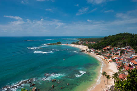 brazil beach: View of the first, second and third beach from the lighthouse  Morro de Sao Paulo  Brazil