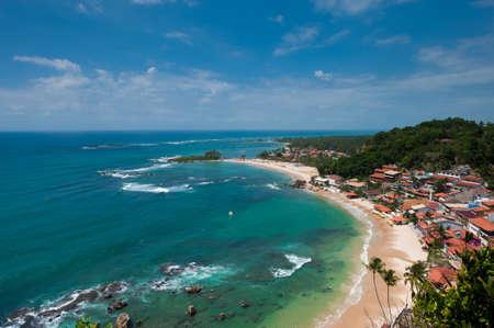 Vista de la primera, segunda y tercera playa del faro de Morro de Sao Paulo Brasil