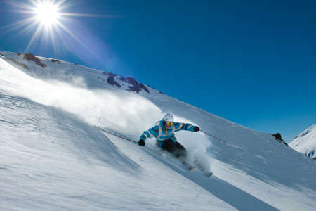 Off-piste skiing in Chapelco, San Martin de los Andes, Argentina  photo