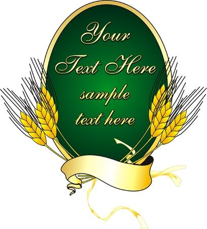 vector logo met span doek en meel