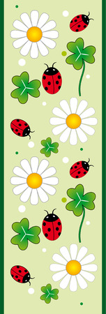 banner with flower and insect Vector