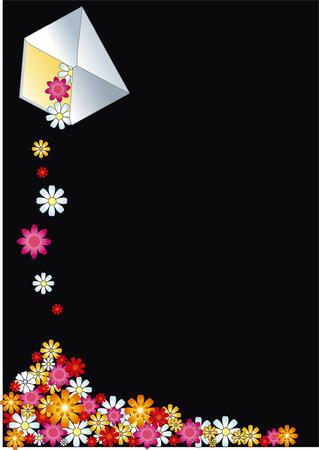 mail envelope of flower Vector
