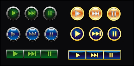 web button with play Vector