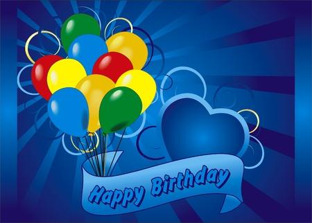 Happy birthday kaart  Stock Illustratie