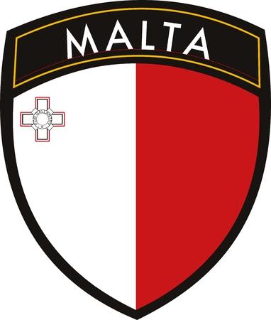 malta vector patch flag