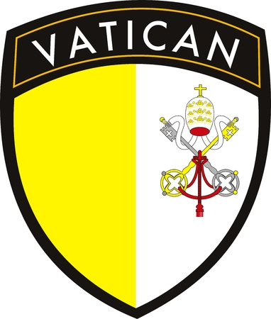 vatican city vector patch flag Illustration