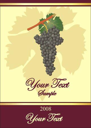 wijn etiketten met druivenmost