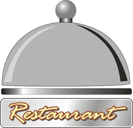 waitresses: vector plate for restaurant