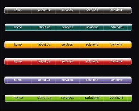 designer labels: web bar with button for internet