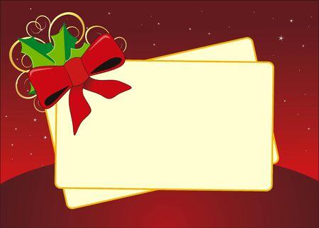 grapa: vector de la tarjeta de feliz navidad y feliz a�o nuevo Vectores